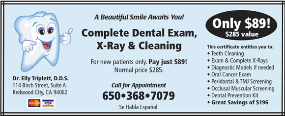 complete dental exam, xray & cleaning